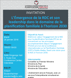 ICFP Spotlight: High-level Auxiliary Event With DRC Government Leaders To Showcase Unprecedented Family Planning Progress